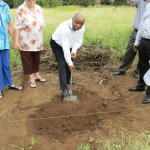 ASI President (Prof Themba Sirayi) breaking the ground